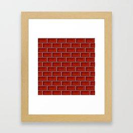Red brick pattern Framed Art Print