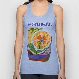 Vintage Portugal Mermaid Travel Unisex Tank Top