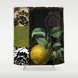 Damask Asian Pears Shower Curtain