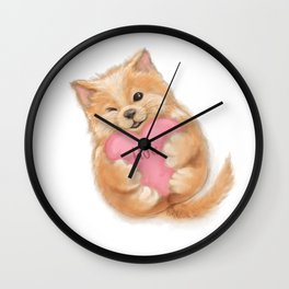 PUPPY HUG Wall Clock