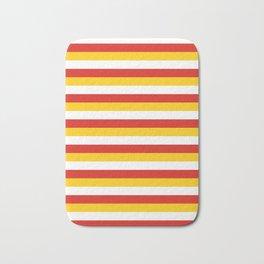 Bhutan dorset flag stripes Bath Mat