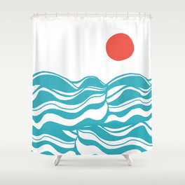 Swell, ocean waves Shower Curtain