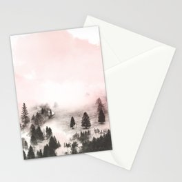 Black and white forest Stationery Cards