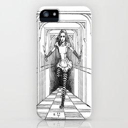 Alice and Flamingo iPhone Case