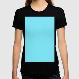Artic Blue Solid Color Plain T-shirt