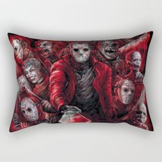 Jason Voorhees Friday the 13th Many faces of Rectangular Pillow