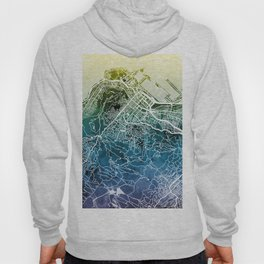 Cape Town South Africa City Street Map Hoody