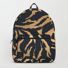 Tiger Fur Pattern (Navy & Gold) Backpack