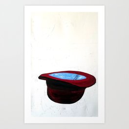 Ladder In An Imperfect Hat Art Print