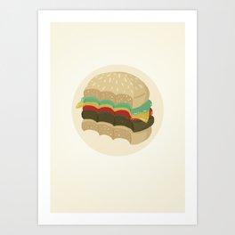 Totally a Burger Art Print