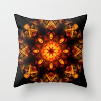 demon Throw Pillows featuring Demon by Shadow Chocobo