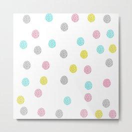 Fun Polka Dot Pattern Metal Print