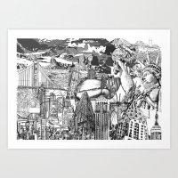 usa Art Prints featuring USA by Bekim ART