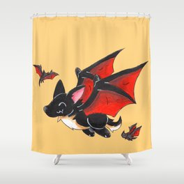 Corgipire Bat Shower Curtain