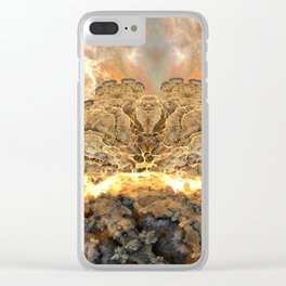 Coral Above the Sun Clear iPhone Case