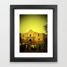 Remember the Alamo Framed Art Print