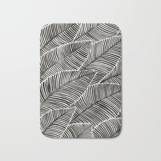 Tropical Palm Leaves – Black Palette Bath Mat