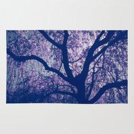 Cherry Blossom Blue Rug