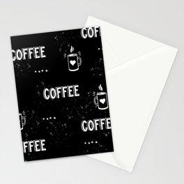 Coffee Black chalkboard  Stationery Cards