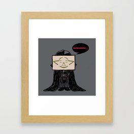 Current Status (Dark Side) Framed Art Print
