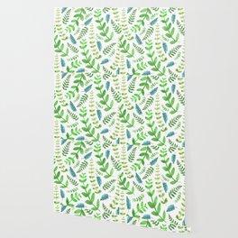 Greenery Leaves Pattern Wallpaper