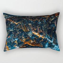 Bleeding Blue and Orange Rectangular Pillow