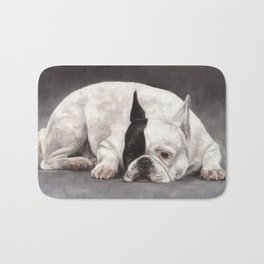 French Bulldog Painting Bath Mat
