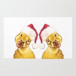 Christmas duckling Rug