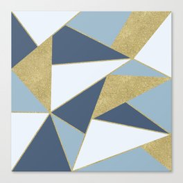 Abstract Blue and Gold Canvas Print