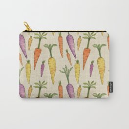 Heirloom Carrots on Cream Carry-All Pouch