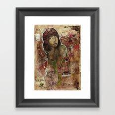 Io M. Framed Art Print