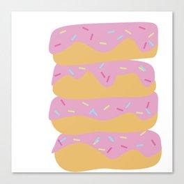 Pink Sprinkle Donuts Canvas Print