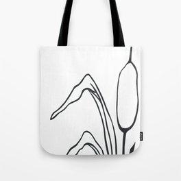 Paper-cut Cattail Tote Bag