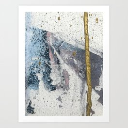 To the Mountains: a minimal abstract mixed-media piece by Alyssa Hamilton Art Art Print