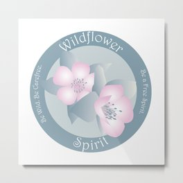 Wildflower Spirit - Boho Breeze Metal Print