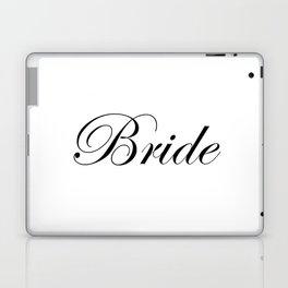 Bride - white Laptop & iPad Skin