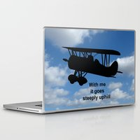 airplane Laptop & iPad Skins featuring airplane by Karl-Heinz Lüpke