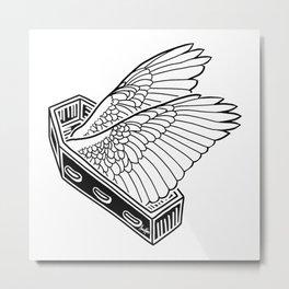 Flight Despite Despair Metal Print