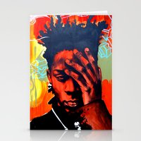 basquiat Stationery Cards featuring Basquiat  by jack shaftoe