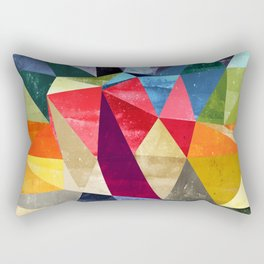 colorful pattern abstract shapes Rectangular Pillow