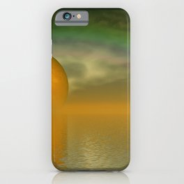 when the moon touched earth -13b- iPhone Case