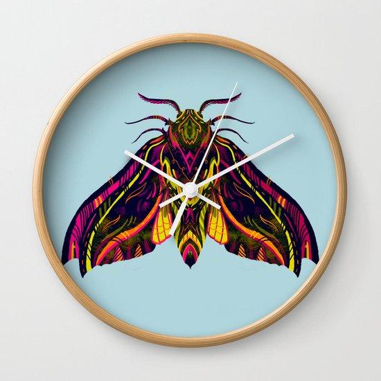 Elephant Hawk Moth Wall Clock