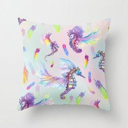Ocean Pegasus Throw Pillow