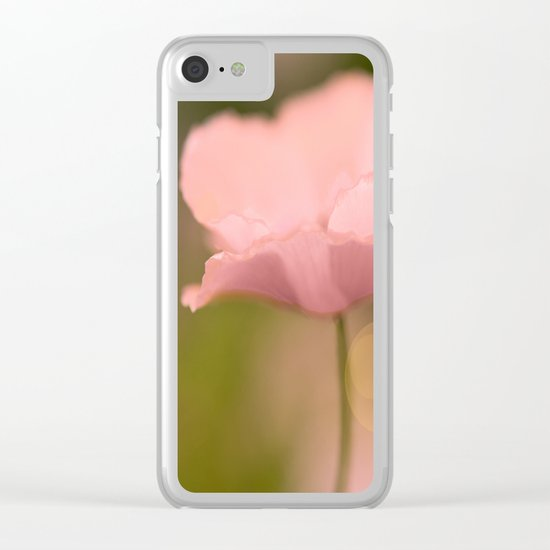 Dreamy Poppy Clear iPhone Case