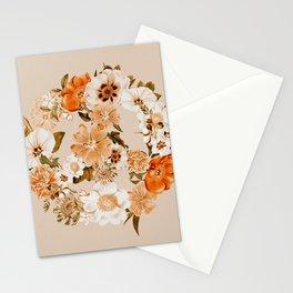 Botanica Peace sign - bohemian Stationery Cards