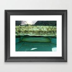 edge of a pool Framed Art Print