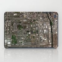 chicago map iPad Cases featuring Chicago  by Mark John Grant