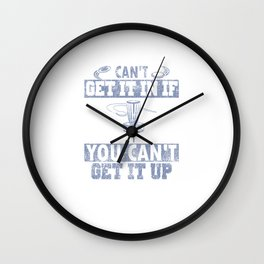 Can't Get It In Disc Golf Distressed Wall Clock
