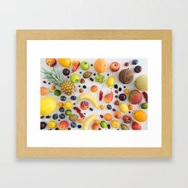 Collection of summer fruits Framed Art Print