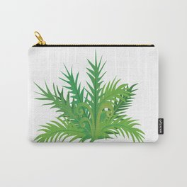 Brightly Colored Fern Carry-All Pouch